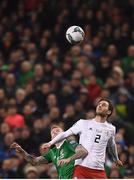 26 March 2019; Otar Kakabadze of Georgia and James McClean of Republic of Ireland during the UEFA EURO2020 Group D qualifying match between Republic of Ireland and Georgia at the Aviva Stadium, Lansdowne Road in Dublin. Photo by Stephen McCarthy/Sportsfile