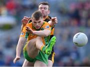 17 March 2019; Liam Silke of Corofin in action against Shane Doolan of Dr. Crokes' during the AIB GAA Football All-Ireland Senior Club Championship Final match between Corofin and Dr Crokes' at Croke Park in Dublin. Photo by Piaras Ó Mídheach/Sportsfile