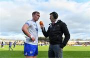24 March 2019; Pauric Mahony of Waterford speaks to TG4 analyst and former hurler Michael Rice after the Allianz Hurling League Division 1 Semi-Final match between Galway and Waterford at Nowlan Park in Kilkenny. Photo by Brendan Moran/Sportsfile