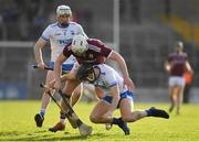 24 March 2019; Austin Gleeson of Waterford in action against Joe Canning during the Allianz Hurling League Division 1 Semi-Final match between Galway and Waterford at Nowlan Park in Kilkenny. Photo by Brendan Moran/Sportsfile