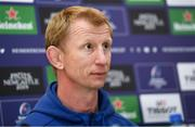 29 March 2019; Head coach Leo Cullen during a Leinster Rugby press conference at the Aviva Stadium in Dublin. Photo by Ramsey Cardy/Sportsfile