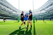 29 March 2019; Rhys Ruddock, left, and Scott Fardy during the Leinster Rugby captain's run at the Aviva Stadium in Dublin. Photo by Ramsey Cardy/Sportsfile