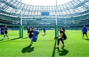 29 March 2019; Ed Byrne, left, and Adam Byrne during the Leinster Rugby captain's run at the Aviva Stadium in Dublin. Photo by Ramsey Cardy/Sportsfile