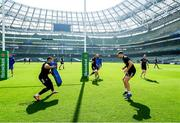29 March 2019; Adam Byrne, left, and Ross Byrne during the Leinster Rugby captain's run at the Aviva Stadium in Dublin. Photo by Ramsey Cardy/Sportsfile