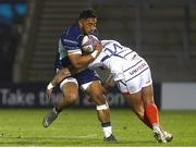29 March 2019; Bundee Aki of Connacht is tackled by Denny Solomona of Sale during the Heineken Challenge Cup Quarter-Final match between Sale Sharks and Connacht at AJ Bell Stadium in Salford, England. Photo by Philip Oldham/Sportsfile