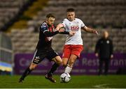 29 March 2019; Keith Ward of Bohemians in action against Conor Clifford of St Patrick's Athletic during the SSE Airtricity League Premier Division match between Bohemians and St Patrick's Athletic at Dalymount Park in Dublin. Photo by Seb Daly/Sportsfile