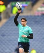 30 March 2019; Joey Carbery of Munster warms up ahead of the Heineken Champions Cup Quarter-Final match between Edinburgh and Munster at BT Murrayfield Stadium in Edinburgh, Scotland. Photo by Paul Devlin/Sportsfile