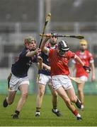 30 March 2019; Alex Connaire of St Raphael's College Loughrea in action against Michael Doyle of Castlecomer Community School during the Masita GAA All-Ireland Hurling Post Primary Schools Paddy Buggy Cup Final match between St. Raphael's College Loughrea and Castlecomer CS in Bord na Móna O'Connor Park in Tullamore, Offaly. Photo by Harry Murphy/Sportsfile