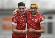 30 March 2019; Adrian Prendergast, left and Adam Nolan of St Raphael's College Loughrea celebrate after the Masita GAA All-Ireland Hurling Post Primary Schools Paddy Buggy Cup Final match between St. Raphael's College Loughrea and Castlecomer CS in Bord na Móna O'Connor Park in Tullamore, Offaly. Photo by Harry Murphy/Sportsfile