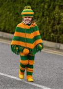 30 March 2019; Cassie Rose Melly, age 5, from Lettermacaward, Co. Donegal, on her way to the Allianz Football League Division 2 Final match between Meath and Donegal at Croke Park in Dublin. Photo by Ray McManus/Sportsfile
