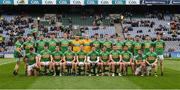 30 March 2019; The Leitrim squad before the Allianz Football League Division 4 Final between Derry and Leitrim at Croke Park in Dublin. Photo by Ray McManus/Sportsfile