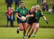 30 March 2019; Erone Fitzpatrick of Scoil Chríost Rí, Portlaoise in action against Anna Morris of Loreto, Clonmel during the Lidl All-Ireland Post-Primary Schools Senior A Final match between Loreto, Clonmel, and Scoil Chríost Rí, Portlaoise, at John Locke Park in Callan, Co Kilkenny. Photo by Diarmuid Greene/Sportsfile