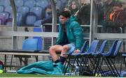 30 March 2019; Joey Carbery of Munster sits on the bench after being substituted with an injury during the Heineken Champions Cup Quarter-Final match between Edinburgh and Munster at BT Murrayfield Stadium in Edinburgh, Scotland. Photo by Brendan Moran/Sportsfile