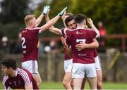 30 March 2019; Denis Corroon and James Dolan of Westmeath celebrate after the Allianz Football League Roinn 3 Round 6 match between Louth and Westmeath at the Gaelic Grounds in Drogheda, Louth. Photo by Oliver McVeigh/Sportsfile