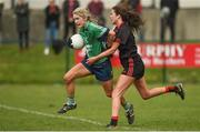 30 March 2019; Ciara Byrne of Scoil Chríost Rí, Portlaoise in action against Aine Fitzgerald of Loreto, Clonmel during the Lidl All-Ireland Post-Primary Schools Senior A Final match between Loreto, Clonmel, and Scoil Chríost Rí, Portlaoise, at John Locke Park in Callan, Co Kilkenny. Photo by Diarmuid Greene/Sportsfile
