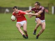 30 March 2019; Conor Early of Louth in action against Frank Boyle of Westmeath during the Allianz Football League Roinn 3 Round 6 match between Louth and Westmeath at the Gaelic Grounds in Drogheda, Louth. Photo by Oliver McVeigh/Sportsfile