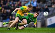 30 March 2019; Hugh McFadden of Donegal in action against Shane McEntee of Meath during the Allianz Football League Division 2 Final match between Meath and Donegal at Croke Park in Dublin. Photo by Ray McManus/Sportsfile