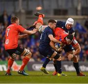 30 March 2019; Marcell Coetzee of Ulster is tackled by Seán O'Brien of Leinster. right, and Luke McGrath during the Heineken Champions Cup Quarter-Final between Leinster and Ulster at the Aviva Stadium in Dublin. Photo by David Fitzgerald/Sportsfile