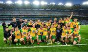 30 March 2019; The Donegal players with the cup after the Allianz Football League Division 2 Final match between Meath and Donegal at Croke Park in Dublin. Photo by Ray McManus/Sportsfile