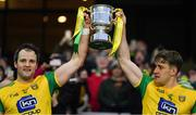 30 March 2019; Donegal joint captains Michael Murphy, left, and Hugh Mcfadden lift the cup after the Allianz Football League Division 2 Final match between Meath and Donegal at Croke Park in Dublin. Photo by Ray McManus/Sportsfile