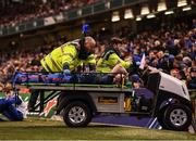30 March 2019; Dan Leavy of Leinster leaves the pitch after picking up an injury during the Heineken Champions Cup Quarter-Final between Leinster and Ulster at the Aviva Stadium in Dublin. Photo by Stephen McCarthy/Sportsfile