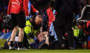 30 March 2019; Dan Leavy of Leinster receives medical attention during the Heineken Champions Cup Quarter-Final between Leinster and Ulster at the Aviva Stadium in Dublin. Photo by David Fitzgerald/Sportsfile