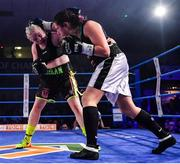 30 March 2019; Katelynn Phelan, left, and Monika Antonik during their super lightweight bout at the National Stadium in Dublin. Photo by Seb Daly/Sportsfile