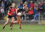 30 March 2019; Clare Walsh of St Mary's High School in action against Zoe Guinane of Mercy SS Ballymahon during the Lidl All-Ireland Post-Primary Schools Senior C Final match between Mercy SS, Ballymahon, Co Longford, and St Mary's High School, Midleton, Co Cork, at St Rynagh's GAA in Banagher, Co Offaly. Photo by Piaras Ó Mídheach/Sportsfile
