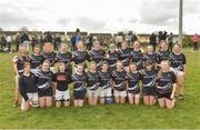 30 March 2019; The Portlaoise team before the Leinster Rugby Girls U16 Girls Plate Final match between Greystones and Portlaoise at Navan RFC in Navan, Co Meath. Photo by Matt Browne/Sportsfile