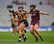 31 March 2019; Katie Power of Kilkenny  in action against Lorraine Ryan of Galway  during the Littlewoods Ireland Camogie League Division 1 Final match between Kilkenny and Galway at Croke Park in Dublin. Photo by Ray McManus/Sportsfile