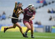 31 March 2019; Ailish O'Reilly of Galway in action against Claire Phelan of Kilkenny during the Littlewoods Ireland Camogie League Division 1 Final match between Kilkenny and Galway at Croke Park in Dublin. Photo by Piaras Ó Mídheach/Sportsfile