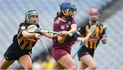 31 March 2019; Noreen Coen of Galway in action against Michelle Teehan of Kilkenny during the Littlewoods Ireland Camogie League Division 1 Final match between Kilkenny and Galway at Croke Park in Dublin. Photo by Piaras Ó Mídheach/Sportsfile