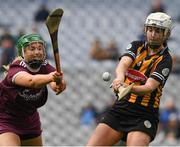 31 March 2019; Catherine Foley of Kilkenny in action against Maria Cooney of Galway during the Littlewoods Ireland Camogie League Division 1 Final match between Kilkenny and Galway at Croke Park in Dublin. Photo by Ray McManus/Sportsfile