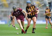 31 March 2019; Carrie Dolan of Galway in action against Claire Phelan of Kilkenny during the Littlewoods Ireland Camogie League Division 1 Final match between Kilkenny and Galway at Croke Park in Dublin. Photo by Piaras Ó Mídheach/Sportsfile