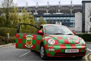 31 March 2019; A Mayo car outside Croke Park ahead of the Allianz Football League Division 1 Final match between Kerry and Mayo at Croke Park in Dublin. Photo by Ramsey Cardy/Sportsfile
