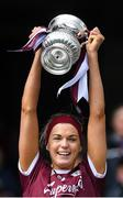 31 March 2019; Galway captain Sarah Dervan lifts the cup after the Littlewoods Ireland Camogie League Division 1 Final match between Kilkenny and Galway at Croke Park in Dublin. Photo by Piaras Ó Mídheach/Sportsfile