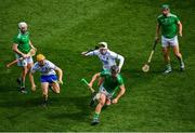 31 March 2019; Darragh O'Donovan of Limerick in action against Shane Bennett of Waterford during the Allianz Hurling League Division 1 Final match between Limerick and Waterford at Croke Park in Dublin. Photo by Ramsey Cardy/Sportsfile