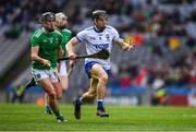 31 March 2019; Jamie Barron of Waterford in action against Darragh O'Donovan of Limerick during the Allianz Hurling League Division 1 Final match between Limerick and Waterford at Croke Park in Dublin. Photo by Ray McManus/Sportsfile