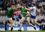 31 March 2019; Jamie Barron of Waterford in action against Dan Morrissey, left, and Declan Hannon of Limerick during the Allianz Hurling League Division 1 Final match between Limerick and Waterford at Croke Park in Dublin. Photo by Stephen McCarthy/Sportsfile
