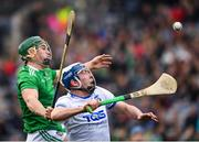 31 March 2019; Stephen Bennett of Waterford in action against Seán Finn of Limerick during the Allianz Hurling League Division 1 Final match between Limerick and Waterford at Croke Park in Dublin. Photo by Ray McManus/Sportsfile
