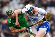 31 March 2019; Stephen Bennett of Waterford in action against Seán Finn of Limerick during the Allianz Hurling League Division 1 Final match between Limerick and Waterford at Croke Park in Dublin. Photo by Stephen McCarthy/Sportsfile