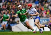 31 March 2019; Tadhg De Búrca of Waterford in action against Aaron Gillane of Limerick during the Allianz Hurling League Division 1 Final match between Limerick and Waterford at Croke Park in Dublin. Photo by Piaras Ó Mídheach/Sportsfile