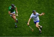 31 March 2019; Mikey Kearney of Waterford in action against Diarmaid Byrnes of Limerick during the Allianz Hurling League Division 1 Final match between Limerick and Waterford at Croke Park in Dublin. Photo by Ramsey Cardy/Sportsfile