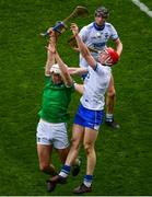 31 March 2019; Kyle Hayes of Limerick in action against Tadhg De Búrca of Waterford during the Allianz Hurling League Division 1 Final match between Limerick and Waterford at Croke Park in Dublin. Photo by Ramsey Cardy/Sportsfile