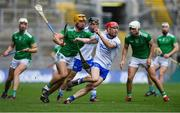 31 March 2019; Tadhg De Búrca of Waterford gets away from Tom Morrissey of Limerick during the Allianz Hurling League Division 1 Final match between Limerick and Waterford at Croke Park in Dublin. Photo by Piaras Ó Mídheach/Sportsfile