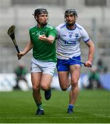 31 March 2019; Peter Casey of Limerick in action against Pauric Mahony of Waterford during the Allianz Hurling League Division 1 Final match between Limerick and Waterford at Croke Park in Dublin. Photo by Piaras Ó Mídheach/Sportsfile