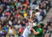 31 March 2019; Seán Finn of Limerick in action against Stephen Bennett of Waterford during the Allianz Hurling League Division 1 Final match between Limerick and Waterford at Croke Park in Dublin. Photo by Piaras Ó Mídheach/Sportsfile