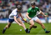 31 March 2019; Calum Lyons of Waterford in action against Peter Casey of Limerick during the Allianz Hurling League Division 1 Final match between Limerick and Waterford at Croke Park in Dublin. Photo by Stephen McCarthy/Sportsfile