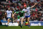 31 March 2019; Graeme Mulcahy of Limerick in action against Tadhg De Búrca of Waterford during the Allianz Hurling League Division 1 Final match between Limerick and Waterford at Croke Park in Dublin. Photo by Stephen McCarthy/Sportsfile