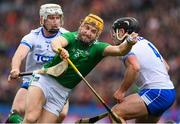 31 March 2019; Séamus Flanagan of Limerick in action against Noel Connors, right, and Shane McNulty of Waterford during the Allianz Hurling League Division 1 Final match between Limerick and Waterford at Croke Park in Dublin. Photo by Ray McManus/Sportsfile